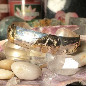 🌹NWT Sterling silver/12K gold bear fetish cuff
